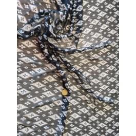 Mousseline noir losange