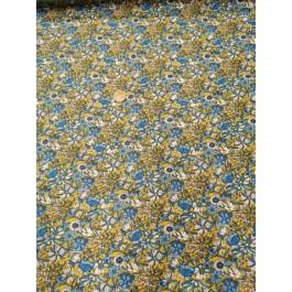 Cretonne prairie bleu