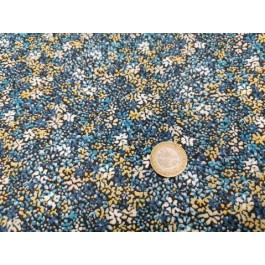Cretonne clematite bleu
