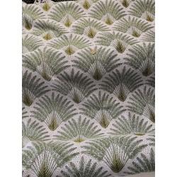 Jacquard tissé palmier vert