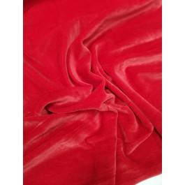 Velours de coton rouge