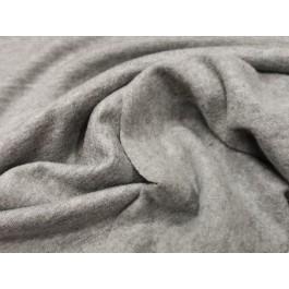 Jersey gratté gris uni