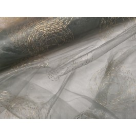 Organza gris decors or