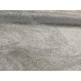 Organza motif strass argent