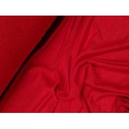 Jersey lin uni rouge