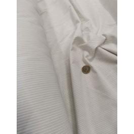 Popeline rayé blanc/taupe
