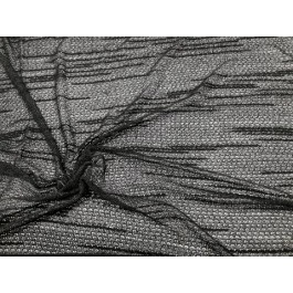 Tricot noir fin ajouré motif