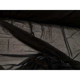Maille transparente noir