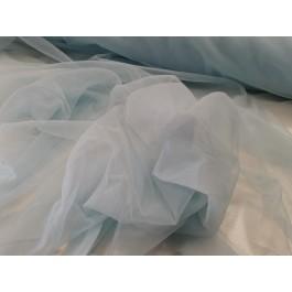 Maille transparente bleu bebe