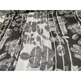 Mouseline noir/blanc