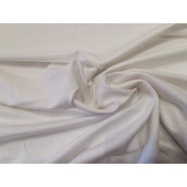 Jersey poly-coton blanc