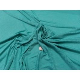 Jersey ajouré turquoise