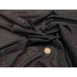 Jersey lin marine lurex argent