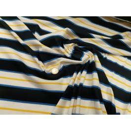 Jersey marine rayé jaune/bleu