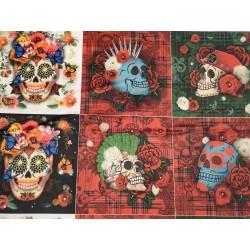 panneaux velours skulls