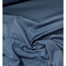 Molleton fin uni bleu infini