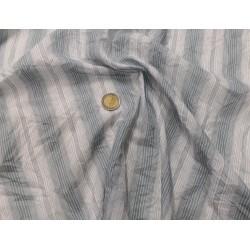 Coton froissé bleu-gris