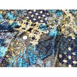 Lycra motifs bleu