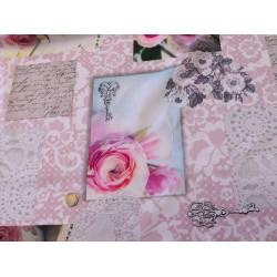 Anti-tache rose romantique