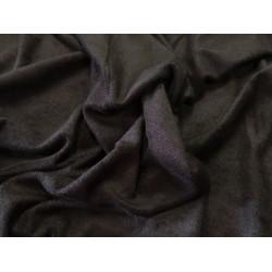 Velour noir poly-coton