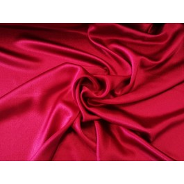 Crepe satin viscose rouge