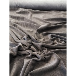 Velour poly-coton taupe