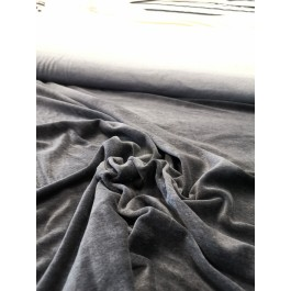 Velour poly-coton anthracite