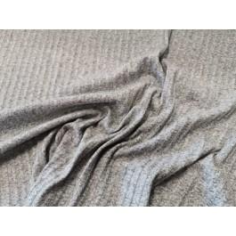 Tricot cotelé gris