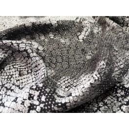 Maille nylon serpent argent